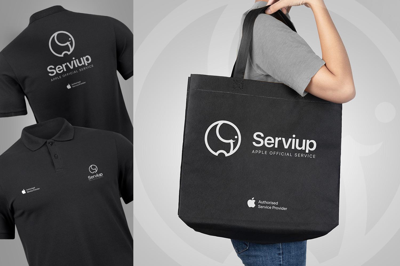 4_serviup_corporativa_apple_imagen_branding_polo_bag